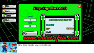 Cheat Ninja Saga ATM Exp 9 Seconds New