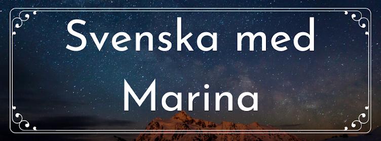 Svenska med Marina (Förberedande undervisning)