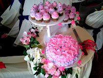 wedding cake 1 tier + 30 cuppies