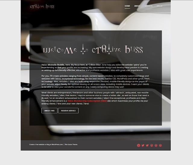 Cr8tive Bliss Website Design & Development