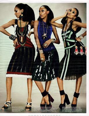 Anais Mali, Jasmine Tookes et Jourdan Dunn pour W Magazine