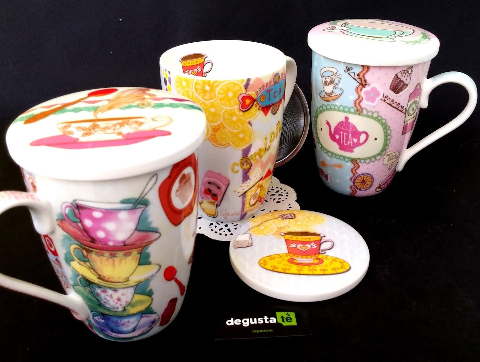 Club degustat tazas para t originales con filtro for Tazas de te inglesas