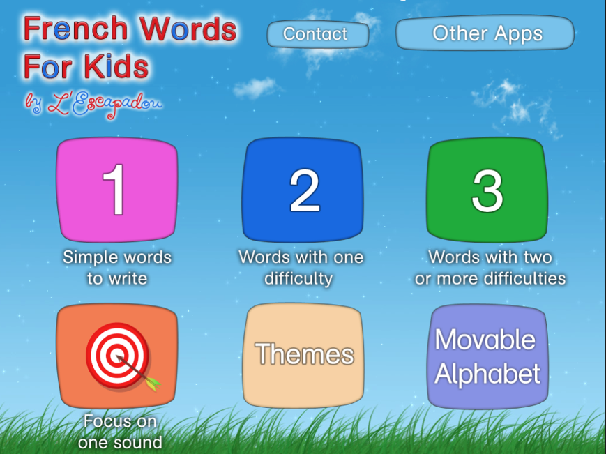 Printables At Words For Kids french apps for kids words montessori it teaches spelling of easy in a fun and instructional way the opening menu lets you choose types want to work with