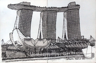 Marina May Sands hotel sketch