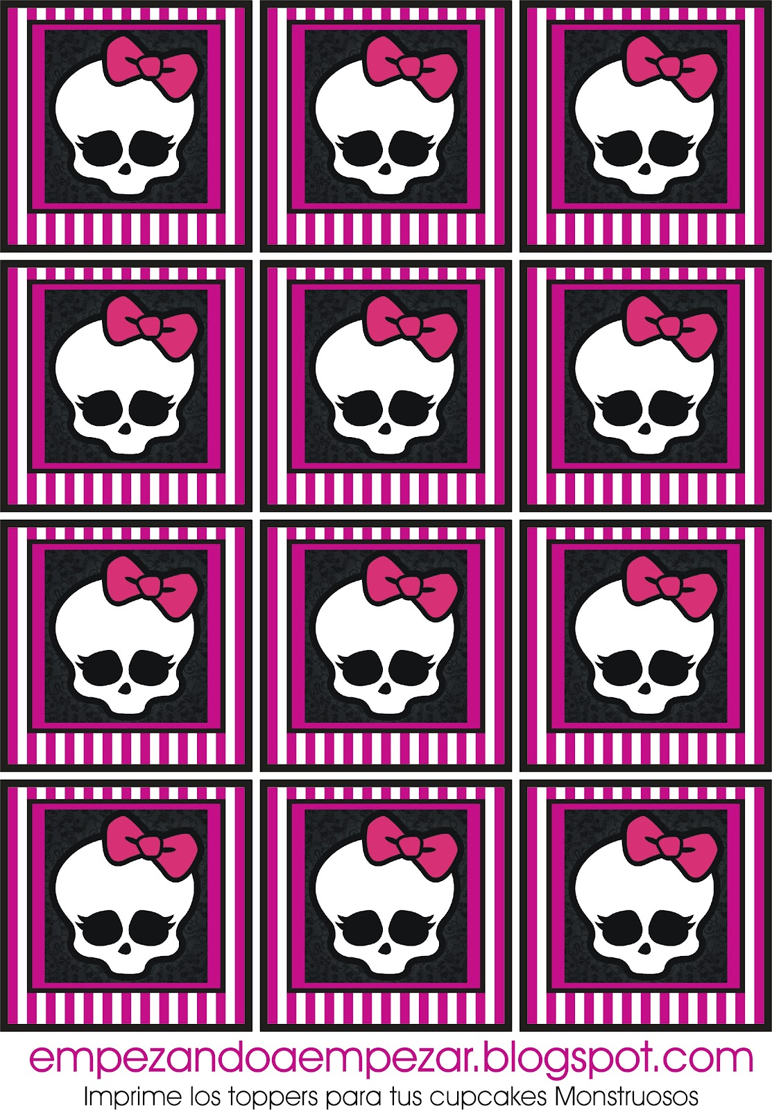 Todo Para Tu Fiesta Monster High   Imprimibles Descargables Gratis I