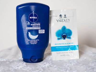 Nivea In-Shower Intensive Skin Conditioner, Yardley London Hydrating & Enriching Body Lotion in Invigorating  Blue Orchid