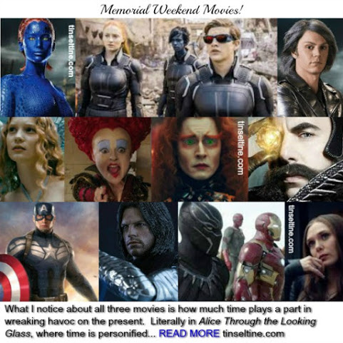 X-MEN:APOCALYPSE | ALICE THROUGH THE LOOKING GLASS | CAPTAIN AMERICA: CIVIL WAR