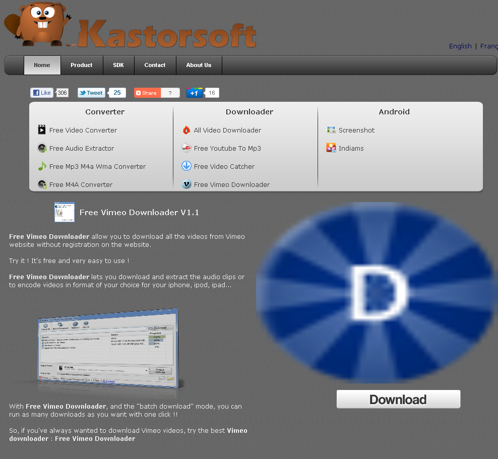 click download to download kastor vimeo downloader
