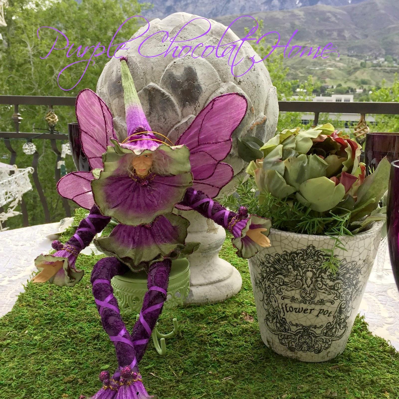 Garden Fairies Return Purple Chocolat Home