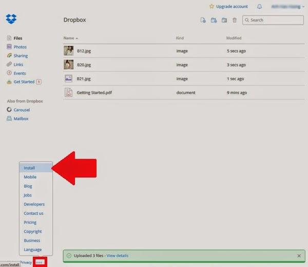 Hướng dẫn sử dụng Dropbox: Tải Dropbox về máy tính