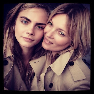 Kate Moss y Cara Delevingne para Burberry