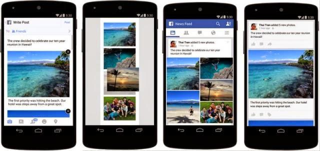Facebook meilleure visualisation des images sur les plateformes mobiles