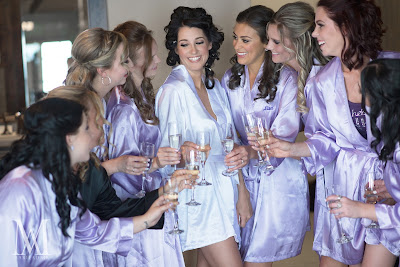 Lavender bridesmaids robes l Marie Adair Photography, Take the Cake Event Planning, West Shore Cafe