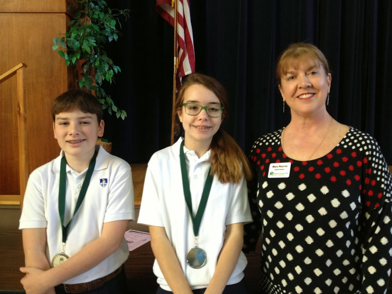Two MCPS Sixth Grade Students Win Humane Society Essay Contest 1