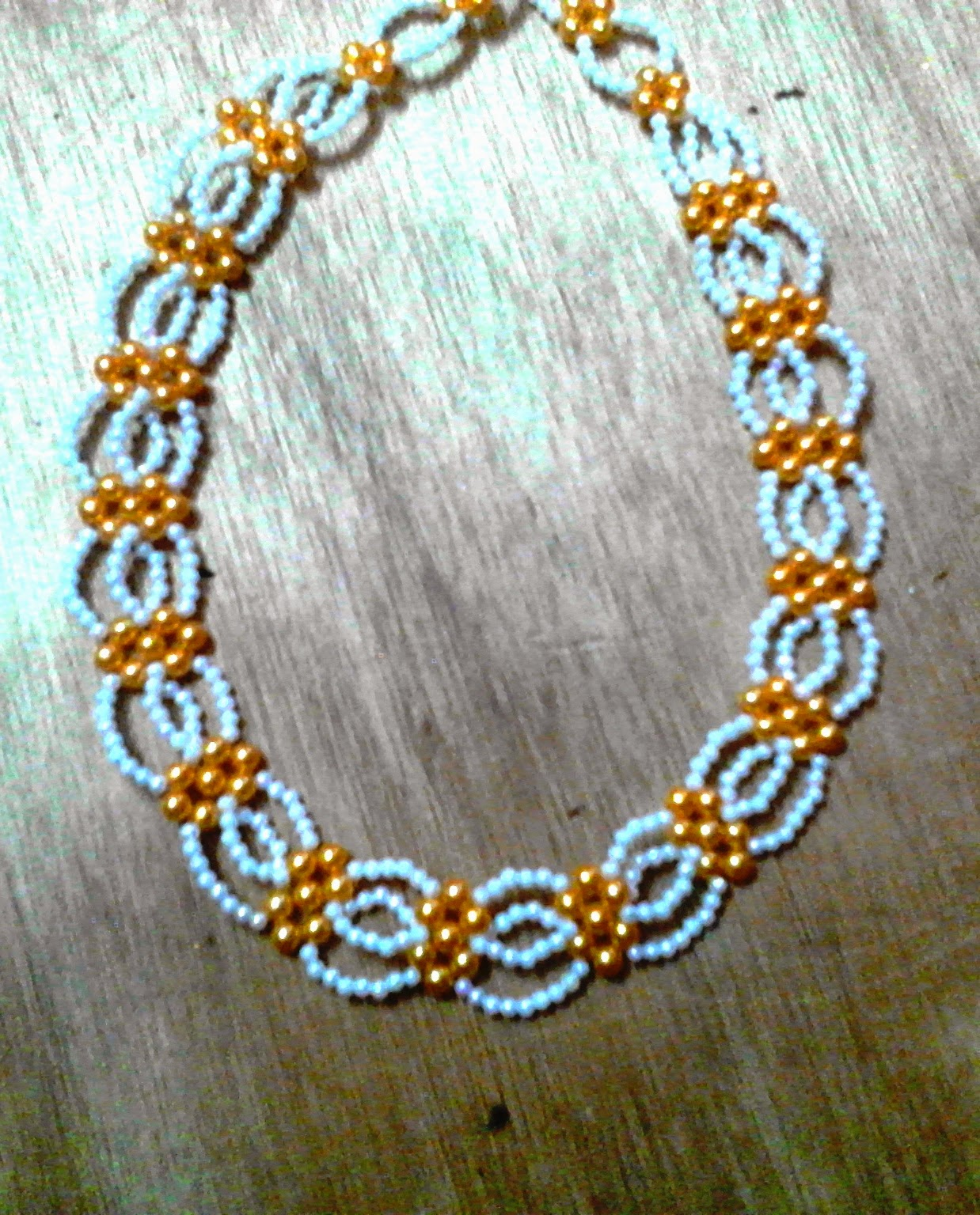 Beadination: Abuja connection beaded necklace and bracelet