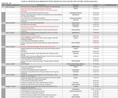 jadwal PKB 2013