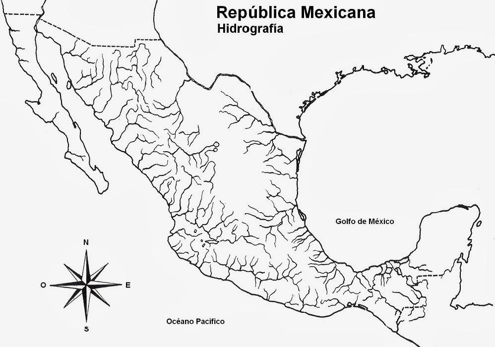 Mapa De Hidrografia De Mexico