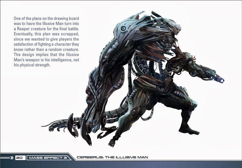 Illusive Man Concept art Reaper tech