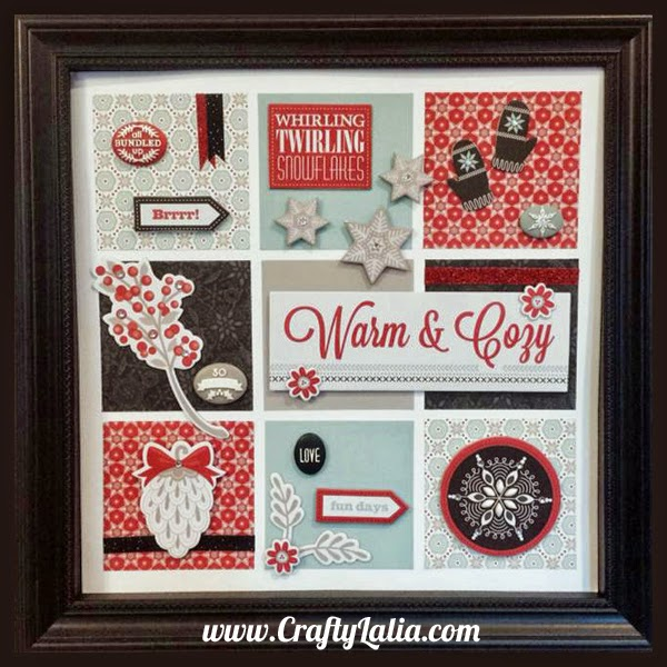 Christmas or Winter Shadow Box with CTMH Snowhaven | CraftyLalia.com