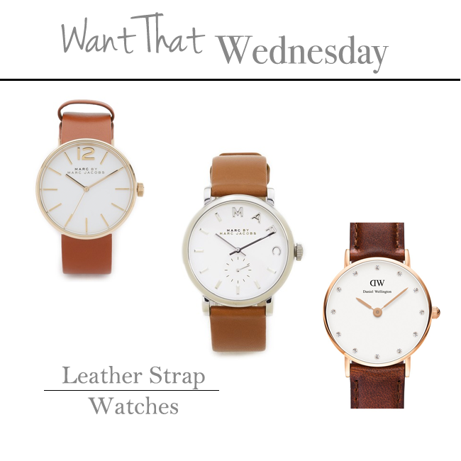 Want That Wednesday | Leather Watches