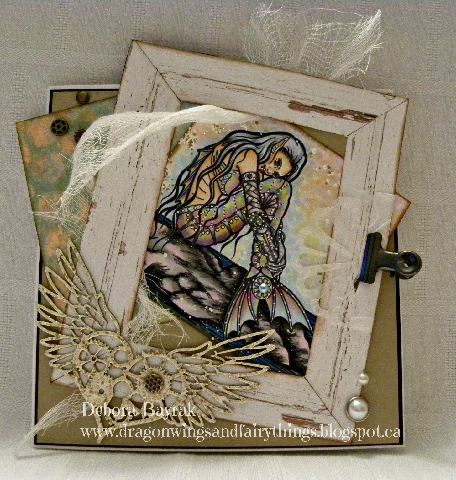 Dragon Wings And Fairy Things Steampunk Mermaid Dt Card For The