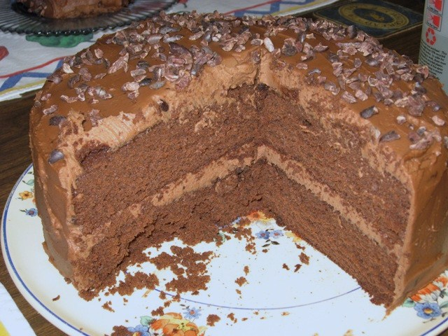 A Pound Of Yeast: Coffee-Chocolate Layer Cake with Mocha ...