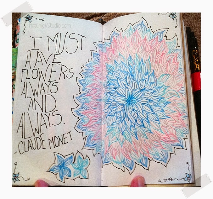 I Must Have Flowers Art Journal Page