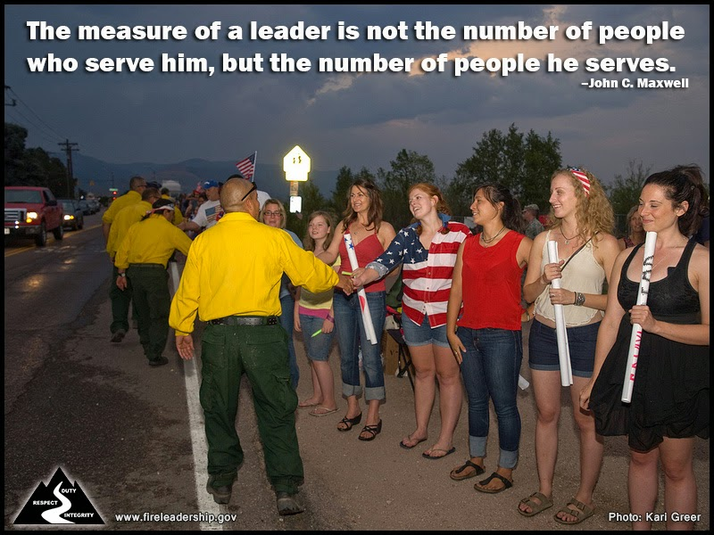 The measure of a leader is not the number of people who serve him, but the number of people he serves. – John C. Maxwell