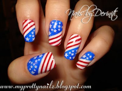 My Pretty Nailz Independence Day Nail Art Stamping Design 4th Of