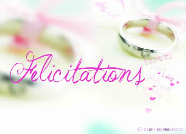 carte felicitation mariage originale gratuite imprimer invitation mariage carte mariage. Black Bedroom Furniture Sets. Home Design Ideas