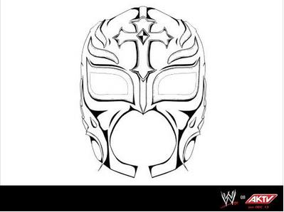 Rey mysterio coloring coloring pages for Rey mysterio mask coloring pages