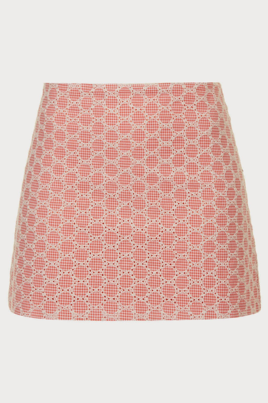 peach short skirt