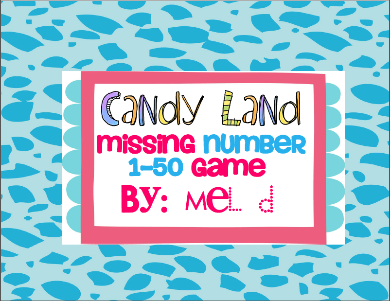 http://www.teacherspayteachers.com/Product/Candy-Land-Missing-Number-Game-1-50-237638