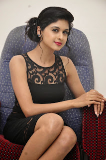 Actress Naveena  Pictures in Black Short Dress at Ice Cream 2 Press Meet  013