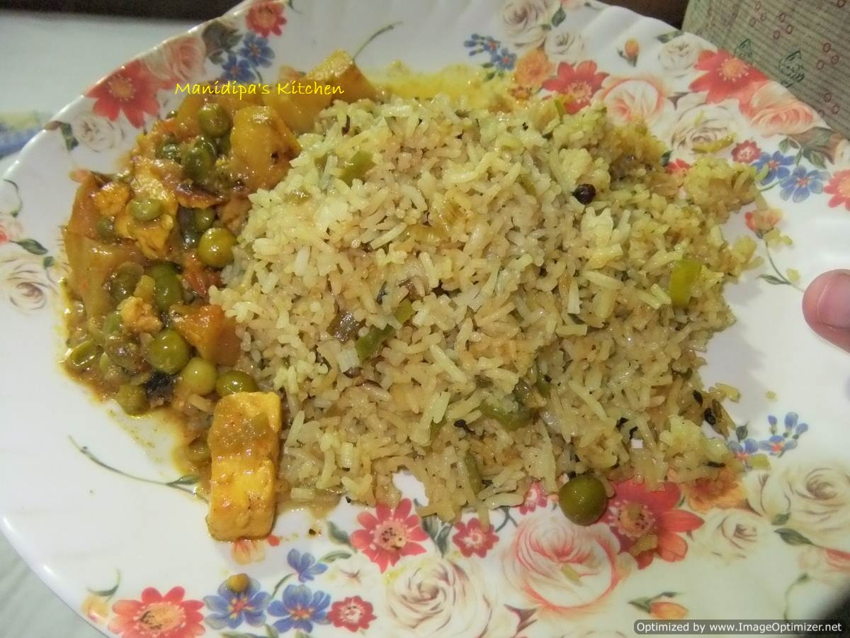 Chinese Fried Rice recipe (Fried rice with extra spring onions ...