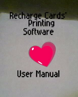 recharge card printing manual Recharge card printing software welcome, this is a general internet business blog but has recharge card printing as its main business learn recharge card printing with our latest recharge card printing software and user manual that would teach you how to start printing recharge cards of all gsm networks and be.