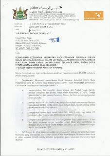Surat Kebenaran Merancang Dari MPK Telah Diterima