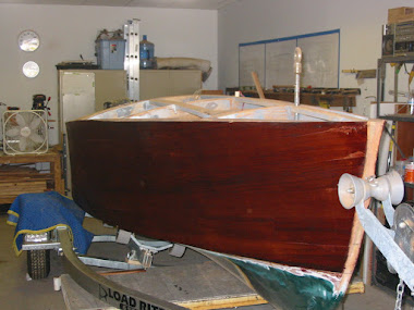 Current Project: 16&#39; Gar Wood Speedster, Stain just applied to Mahogany Hull