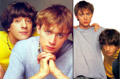 grahamcoxondamonalbarn, damon and graham coxon, blur boys, blur cute