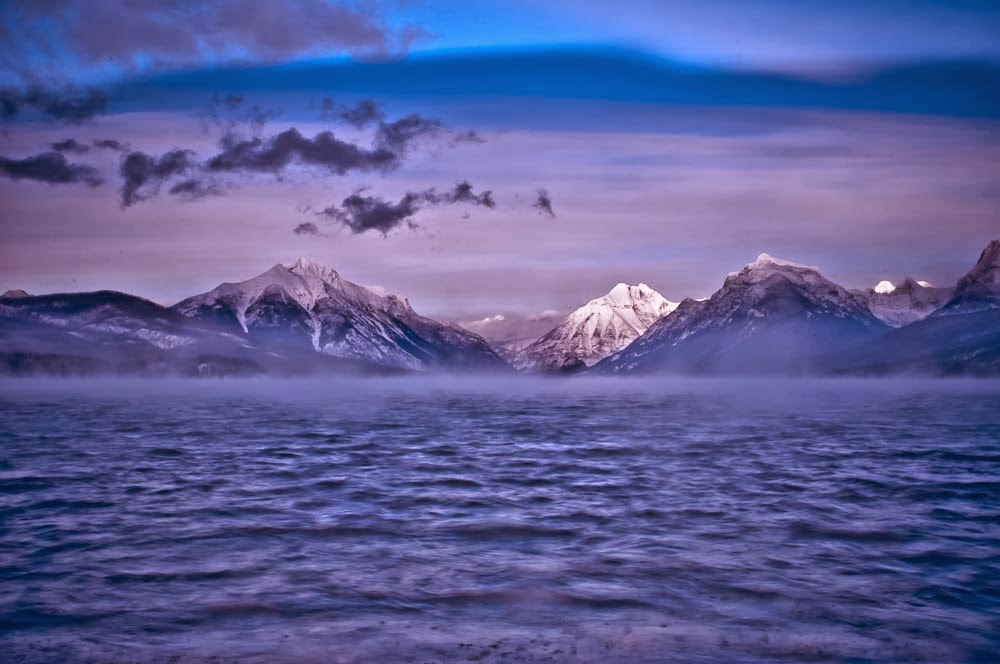 glacier national park, lake mcdonald winter