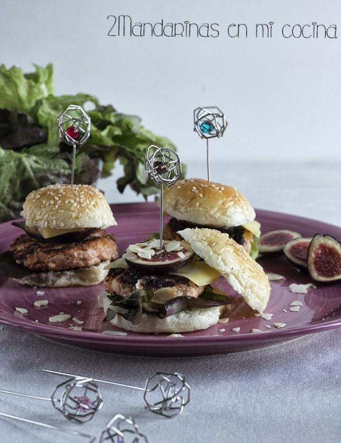 #saboreaespaña. Hamburguesitas de salmón con higos para el día mundial de la tapa