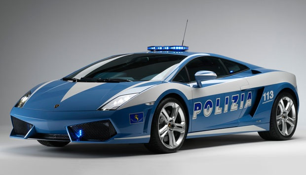italian police smiled happily when they are rewarded with a supercar lamborghini gallardo lp560 4 polizia in 2008 the car is capable of accelerating to a - Super Fast Cars