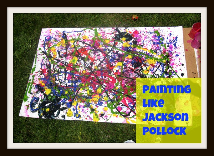 Mama's Little Muse: Painting like Jackson Pollock: A Boy let loose