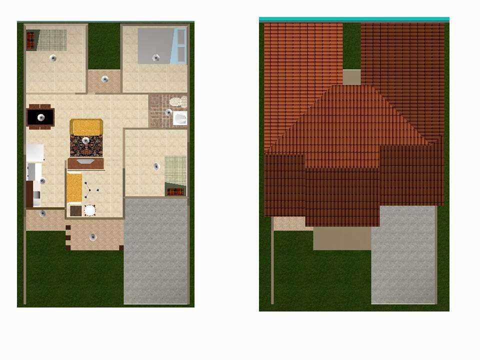 kumpulan desain rumah mungil sehat dengan tiga kamar tidur