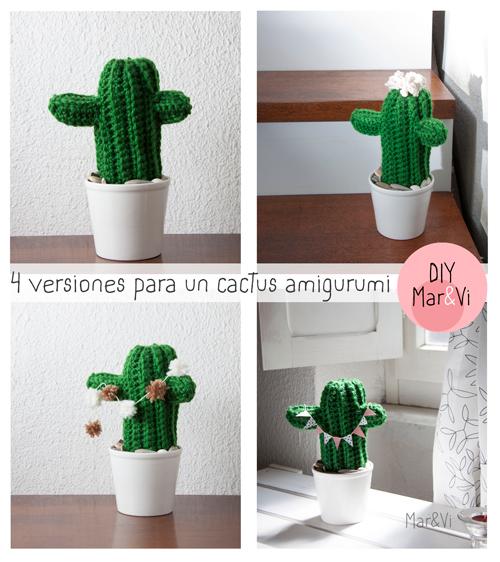 patrón gratis cactus amigurumi