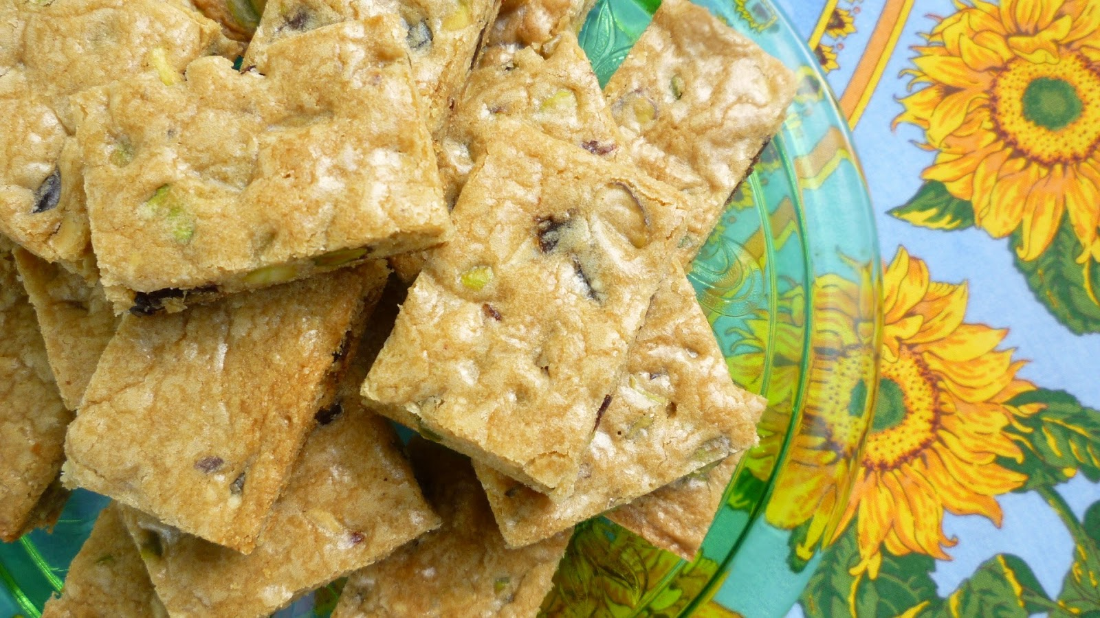 For Love of the Table: Blondies with Dried Tart Cherries ...