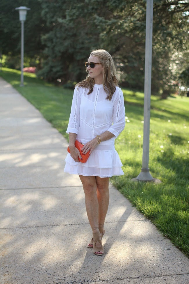 asos white summer dress
