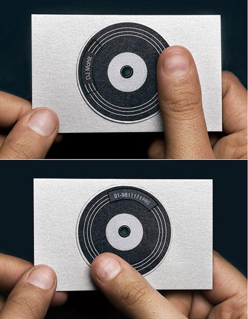 Cartões de visita criativos - DJ Mohit - DJ