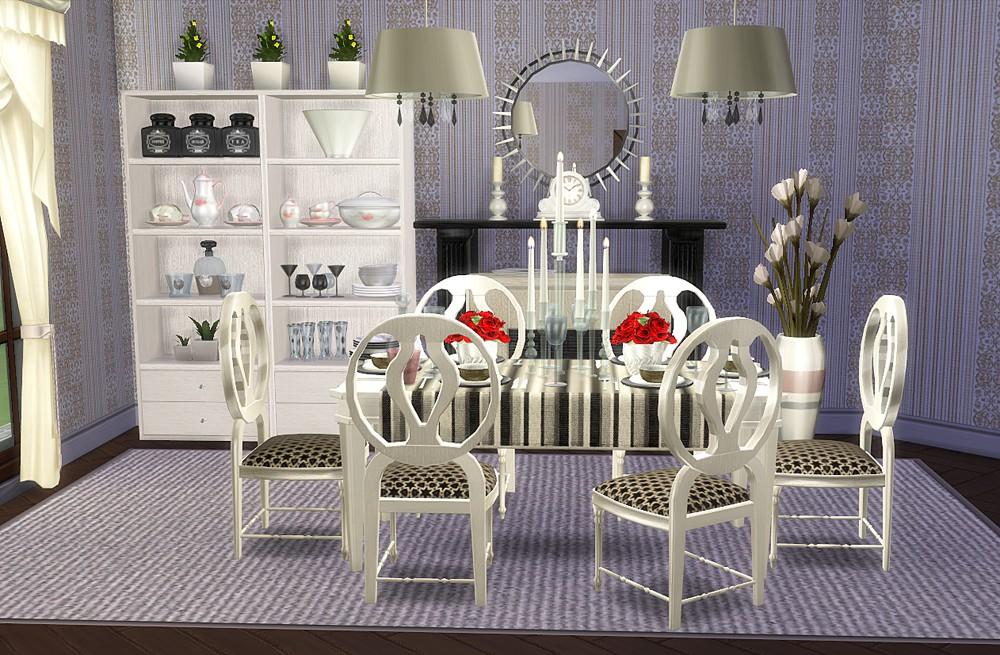 Corporation simsstroy the sims 4 dining room sets for Dining room ideas sims 4