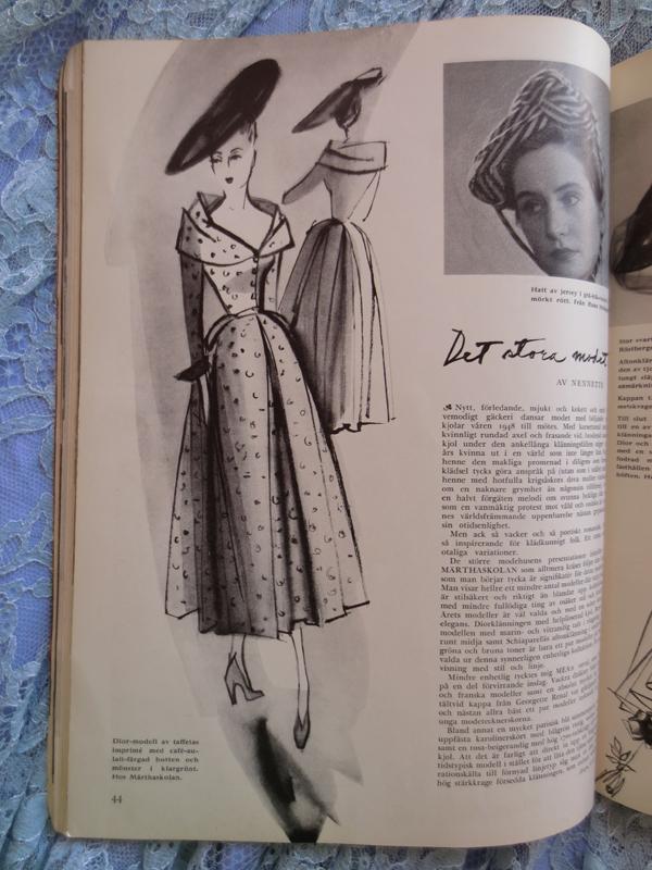 Bonniers månadstidning 1948 Dior